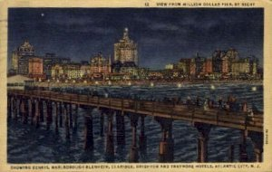 Night View from Million Dollar Pier in Atlantic City, New Jersey