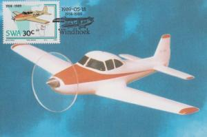 Ryan Navion Plane Aeronautica 75th Anniversary Dutch First Day Cover Postcard