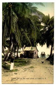 Panama - Colon, Native Hut on the East Shore