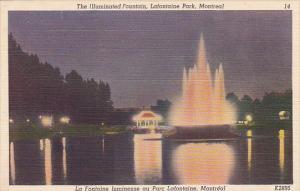 Canada Illuminated Fountain Lafontaine Park Montreal Quebec