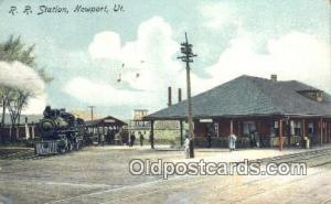 RR Station, Newport, UT, Utah, USA Depot Railroad Writing on back