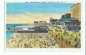 Postcard Boardwalk Scene Atlantic City NJ Unposted VPC02.