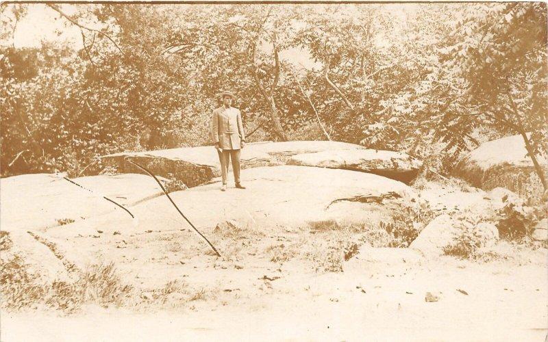 H78/ Washington D.C. RPPC Postcard c1910 Potomac Rock Creek Park 164