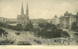 Wien, Vienna Austria, Österreich Maximilainplatz mit Votivkirche  Maximilain...