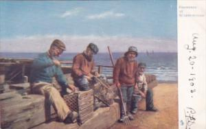 Tucks Fishermen At Scarborough