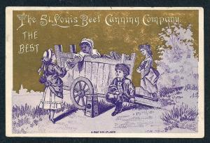 VICTORIAN TRADE CARD St Louis Beef Canning Company