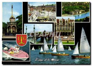 Modern Postcard Liege and the Meuse