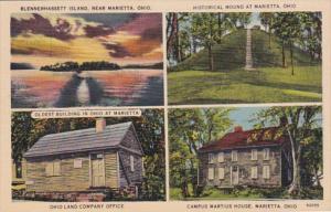 Ohio Marietta Historical Mound Ohio Land Company Office Campus Martius House ...