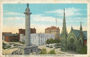 Baltimore Maryland~Mt. Vernon Place~United Methodist Episcopal Church~1920s