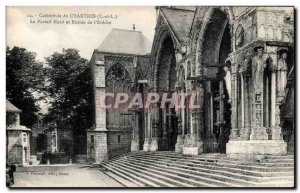 Old Postcard Cathedral of Chartres North Portal and Entree of Eveche