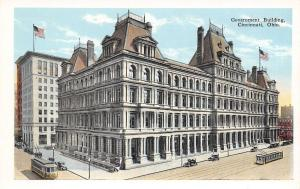 Cincinnati Ohio~Government Building~1920 Postcard