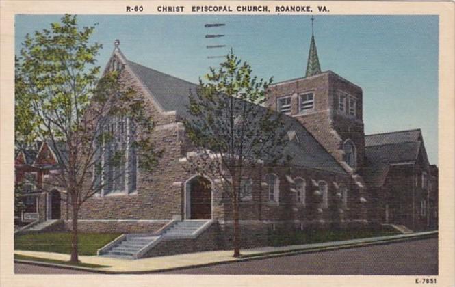 Virginia Roanoke Christ Episcopal Church 1958