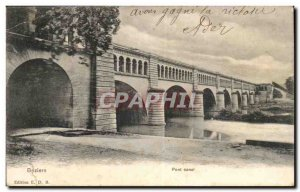 Beziers Old Postcard Pont Canal