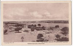 Sudan; British Barracks, Khartoum PPC, Unposted, By Gordon Stationery