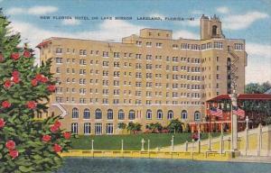 New Florida Hotel On Lake Mirror Lakeland Florida 1953