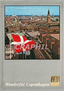 Modern Postcard Wonderful Copenhagen Vesterbrogade and the Town Hall Square
