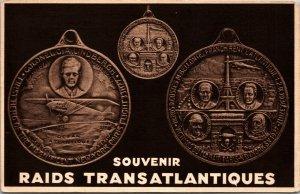 VINTAGE - FRANCE POSTCARD - RAIDS TRANSATLANTIQUES - WW1- UNPOSTED