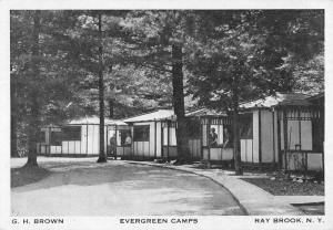 Ray Brook New York Evergreen Camps Street View Antique Postcard K97747