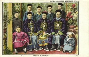 china, Chinese Mandarins (1910s) S.P.G. Coloured Mission Postcard