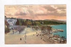View of Street & Harbor / Beau Rivage Palace,Ouchy,Switzerland 1900-10s
