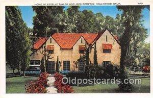 Home of Estelle Taylor & Jack Dempsey Hollywood, CA, USA Unused