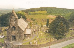 The Church Of St Saint Gwynno Llanwynno Welsh Postcard