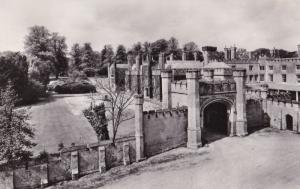 Blithfield Staffordshire Main Entrance & Gate Vintage Real Photo Postcard