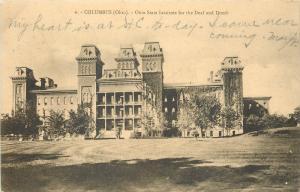 Columbus Ohio~Ohio State Institute For Deaf And Dumb~1907 Postcard