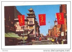 Cable Car,Grant Avenue,Chinatown,San Fransisco,California, 40-60s