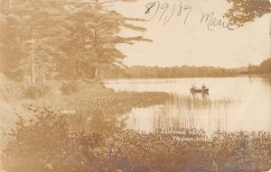 Wenham Massachusetts Idlewood Lake Real Photo Antique Postcard K50749