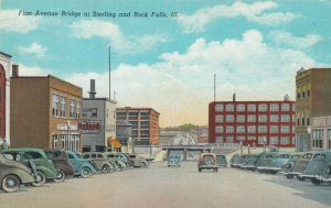 STERLING , Illinois, 1930-40s ; First Avenue Bridge at Sterling & Rock Falls