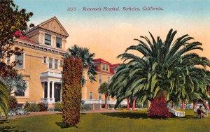 Roosevelt Hospital, Berkeley, California, Early Postcard, Unused