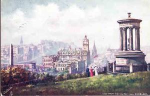 UK Scotland - View from the Galton Hill - Tuck Oilette 1907