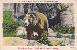 New York Greetings From Lorraine 1954