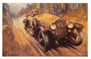 Nostalgia Art Postcard Isotta-Fraschini Car 1926 Reproduction Card NS31