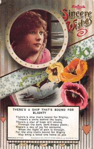 Songs: There's a Ship That's Bound for Blighty Sincere Wishes! Poppy Flowers