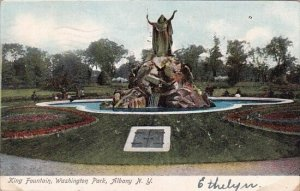 King Fountain Washington Park Albany New York 1907