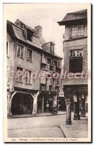 Old Postcard Dinan street of the Contribution