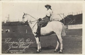 RP: Female Rodeo Champion Lady Rider GRACE WAUGH , 00-10s