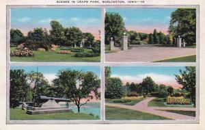 Iowa Burlington Scenes In Crapo Park 1942