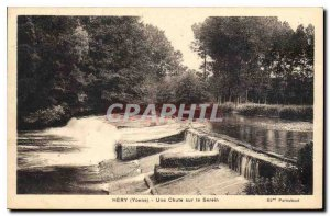 Postcard Old Yonne Hery A Fall on the Serein