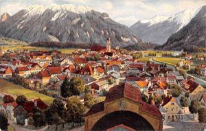 Germany Kuenstlerkarte V. Marschall, Oberammergau mit dem Passionstheater, Laber