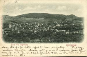 germany, KISSINGEN, View from Staffelberg (1899) Embossed