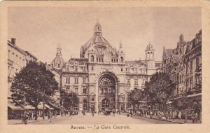ANVERS, Belgium, 1900-1910's; La Gare Centrale