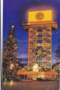 Night View, Shell Oil Tower, Christmas Lights, Canadian National Exhibition, ...