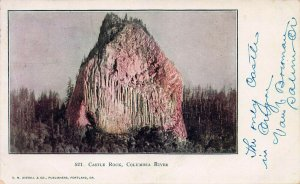 Castle Rock, Columbia River, Washington State, Early Postcard, Used in 1906