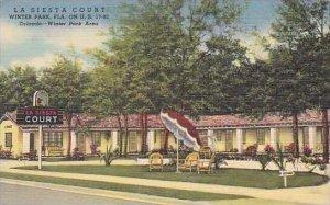 Florida Winter Park La Siesta Court Curteich