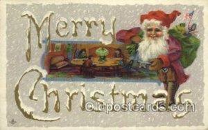 Santa Claus, Christmas 1912 light wear close to grade 2, postal used 1912