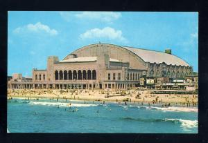 Atlantic City, New Jersey/NJ Postcard, Convention Hall, Bathers At Beach