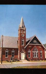 Harrington DE Trinity Methodist Church~Stained Glass Windows~Bell Tower 1950s